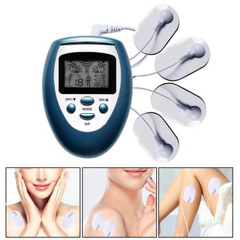 Najnowszy TENS masażer ciała elektryczny wibracyjny Meridian Pulse stymulator mięśni elektroterapia fizykoterapia ulga w bólu tanie i dobre opinie OPSLEA CN (pochodzenie) BODY 220 v NONE Acupuncture Body Massager Massage Gloves Electrode pads 8 Mode 8 level Adjustable