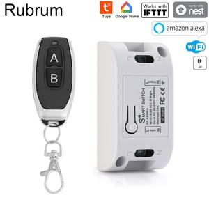 Image 1 - Rubrum Tuya Wifi Smart Switch Timer Draadloze Afstandsbediening Schakelaar Universele Smart Home Automation Module Voor Alexa Google Thuis