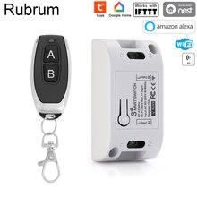 جهاز توقيت مفتاح ذكي يعمل بالواي فاي من Rubrum Tuya مفتاح تحكم عن بعد لاسلكي وحدة أتمتة منزلية ذكية عالمية لـ Alexa Google Home