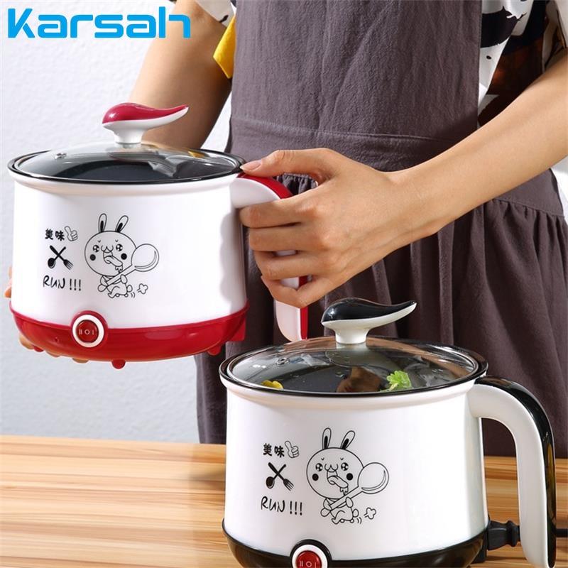 Mini fornello elettrico antiaderente da 1,8 litri multicooker a singolo/doppio strato 220V macchina da cucina portatile Multi fornello di riso elettrico