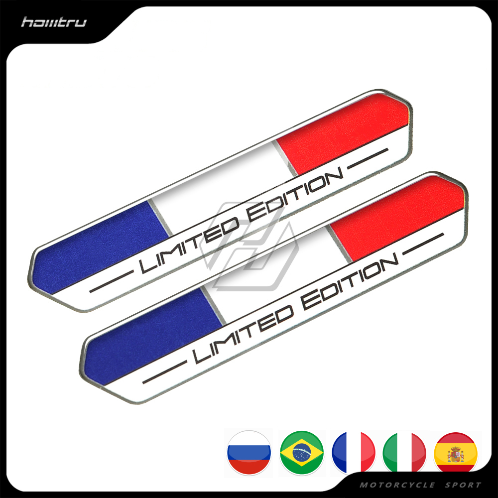 Limited Edition Sticker W/ Russia Italy Brazil Spain France Flag for Motorcycle Tank Gel Decal for Tmax Vmax Vespa SAAB