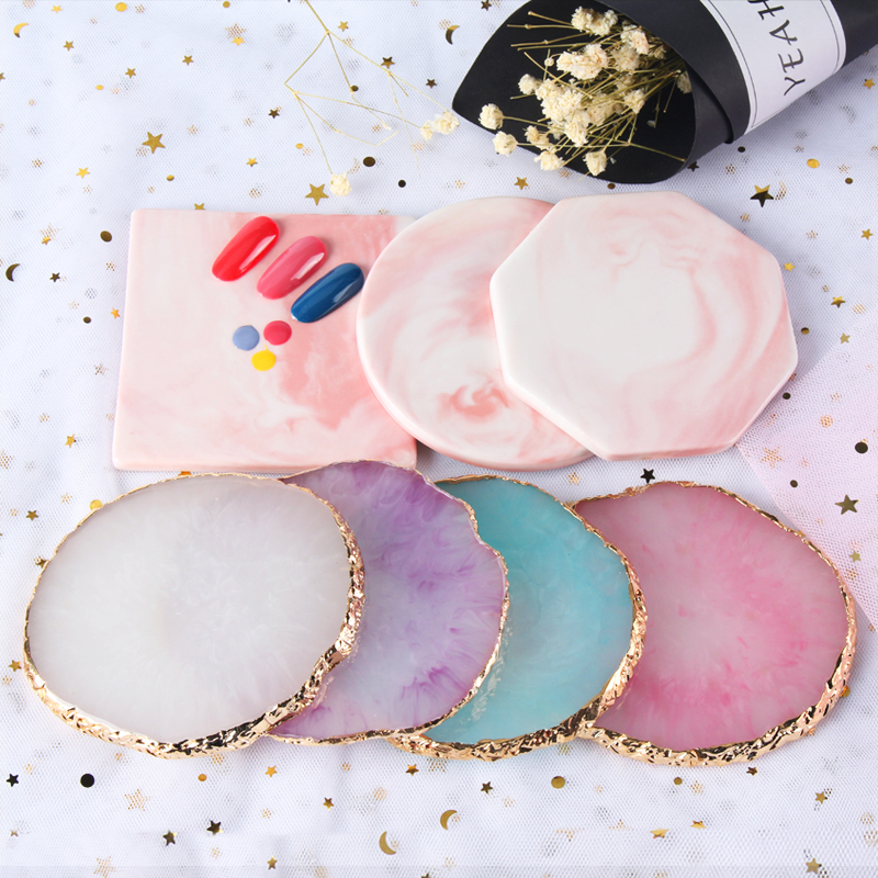 7 Designs Round Oval Retro Nail Plate Tips Display Showing Stand Board Palette Nail Art Practice Tools