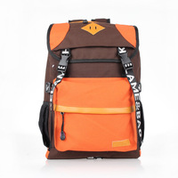 2019 New Style Contrast Color Canvas Backpack Korean style Fashion Buckle Middle School Students Casual School Bag