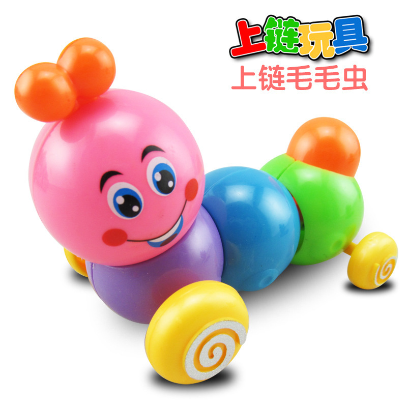 Children Wind-up Toy Telescopic Torsion Butt Winding Caterpillar Small Toy Stall Supply Of Goods Hot Selling