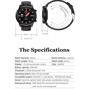 Image 4 - Global Version New Smart Watch 5ATM Bluetooth Music Dual Mode 14 Days Smartwatch For Xiaomi 2019 Heart Rate Intelligent Monitor