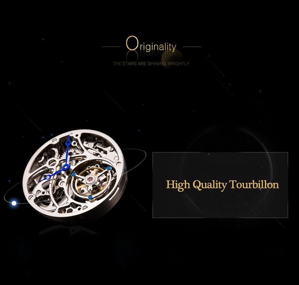Tourbillon Watch 100% Original GUANQIN 2019 Watch men dog dial top brand luxury Sapphire waterproof skeleton Relogio Masculino 5