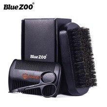 Novo 3 pçs/lote natural faia ferramentas de estilo pente barba modelagem ferramenta estilo com pequena tesoura barba cuidados aliciamento kit