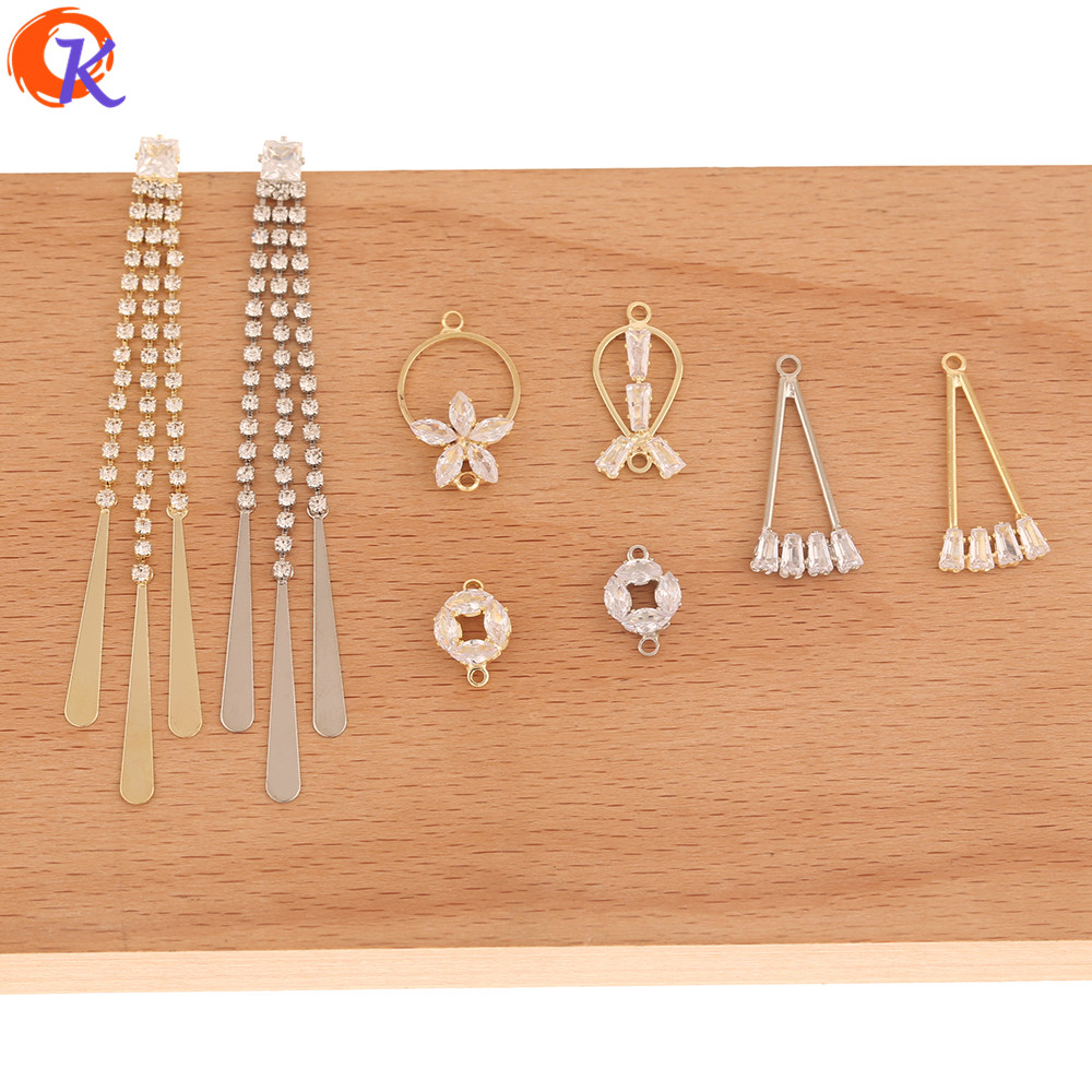 Cordial Design 50Pcs Jewelry Accessories/Earring Findings/DIY Charms/Rhinestone Claw Chain/Hand Made/Connectors For Earrings
