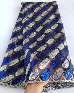 Image 5 - 5 yards Soft sequins french lace African tulle fabric Nigerian Ghana occasional wear very shiny good choice