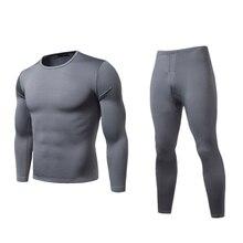 Мужская зимняя теплая шерстяная кофта, штаны, теплая Пижама, леггинсы, длинное нижнее белье, пижамный комплект, L-XXL