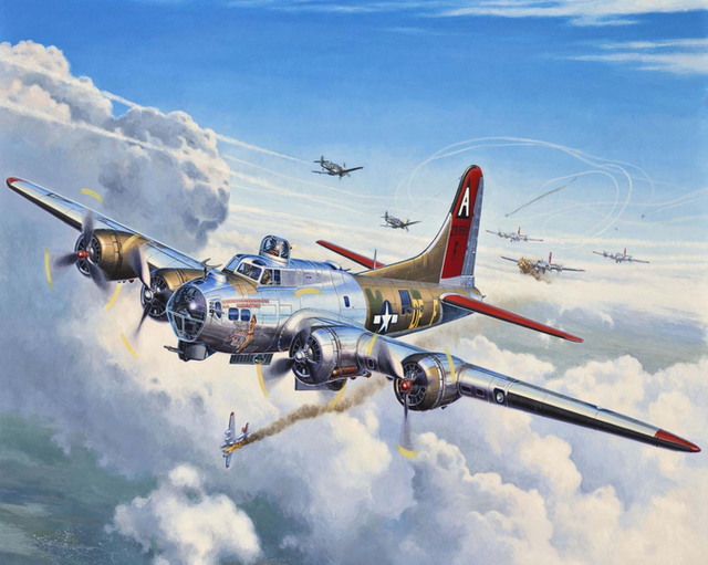 Painting By Numbers Flying Fortress B17 Military WW2 US Air Force