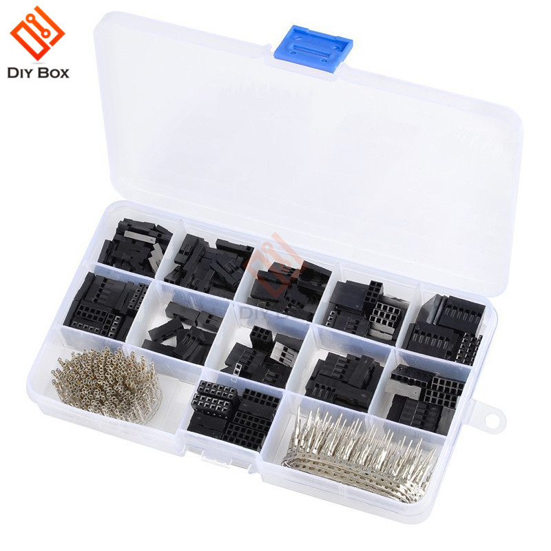 620PCS 2.54mm Male Female Dupont Wire <font><b>Jumper</b></font> Line Cable Dupont Connector Kit <font><b>Jumper</b></font> Wire <font><b>Pin</b></font> <font><b>Header</b></font> Housing image