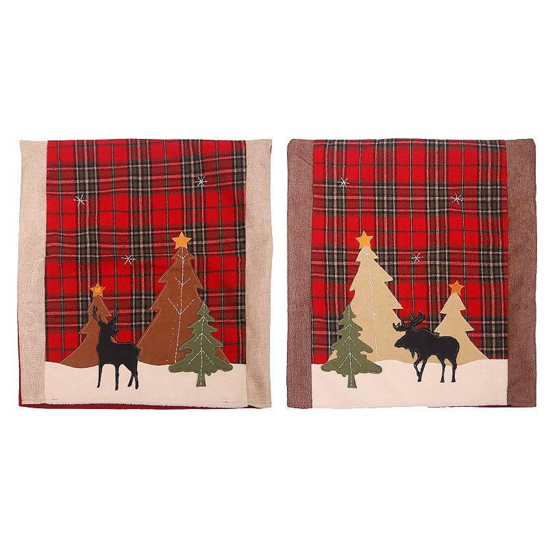 Купить 2 шт рождественские чехлы для стульев кухонные чехлы обеденных