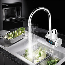 3000W 360 Degrees Kitchen Faucet Instant Hot Water Digital LCD Display Electric Faucet Mixer Tap Stream Sprayer Head Mixer Tap