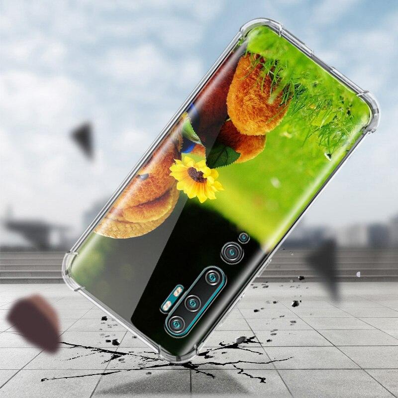 Tatty Teddy Case For Xiaomi Mi Note 10 9 CC9 9T Pro 5G CC9E 8 A2 Lite X2 F1 Airbag Anti Fall TPU Phone Coque
