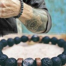 Buddha Bracelet Jewelry Diffuser Moonstone-Bead Lava-Stone Gift Chakra Tibetan Natural