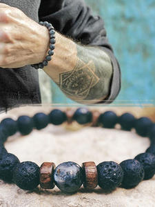 Diffuser Bracelets Jewelry Moonstone-Bead Lava-Stone Gift Chakra Tibetan Natural Men