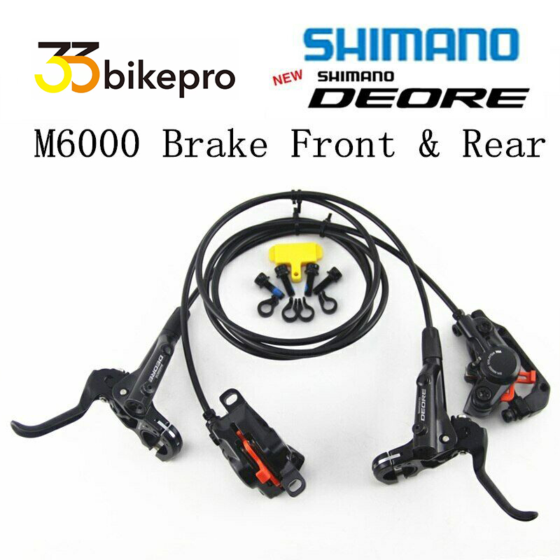 Shimano Deore M6000 MTB Hydraulic Disc Brake Set Front /& Rear