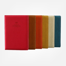 2020 Classic office school hardcover leather band planner notebook stationery fine blank line graph dotted journal note book все цены