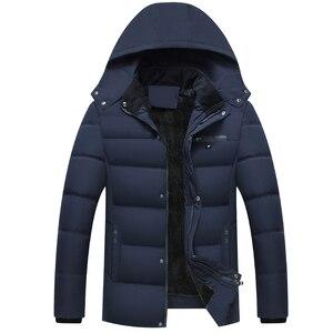 Image 1 - קריא חדש 2020 גברים Jacket מעילים לעבות חם חורף מעילי גברים דובון סלעית להאריך ימים יותר כותנה מרופדת מזדמן מעיל