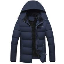 Okunabilir yeni 2020 erkekler ceket palto kalınlaşmak sıcak kışlık ceketler erkekler Parka kapşonlu dış giyim pamuk yastıklı rahat ceket