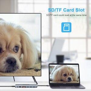Image 5 - Hot 5 In 1 USB C 허브 USB C HDMI USB 3.0 SD/TF 카드 리더 어댑터 (Mac Book Pro 용) Samsung Galaxy Thunderbolt 3 USB C 충전기