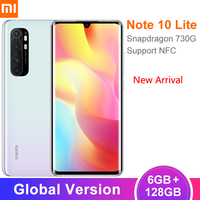 Global Version Xiaomi Mi Note 10 Lite Smartphone 6GB 128GB Snapdragon 730G 64MP Camera 6.47 Screen NFC 5260mAh Battery Xiami