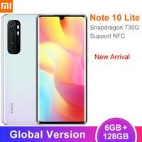 Global Version Xiaomi Mi Note 10 Lite Smartphone 6GB 128GB Snapdragon 730G 64MP Camera 6.47 Screen NFC 5260mAh Battery Xiami