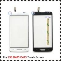 """Cep telefonları ve Telekomünikasyon Ürünleri'ten Cep Telefonu Dokunmatik Paneli'de Yüksek kalite 4.7 """"LG L90 D405 D415 ve L90 çift D410 dokunmatik ekran digitizer sensörü dış ön cam Lens paneli"""