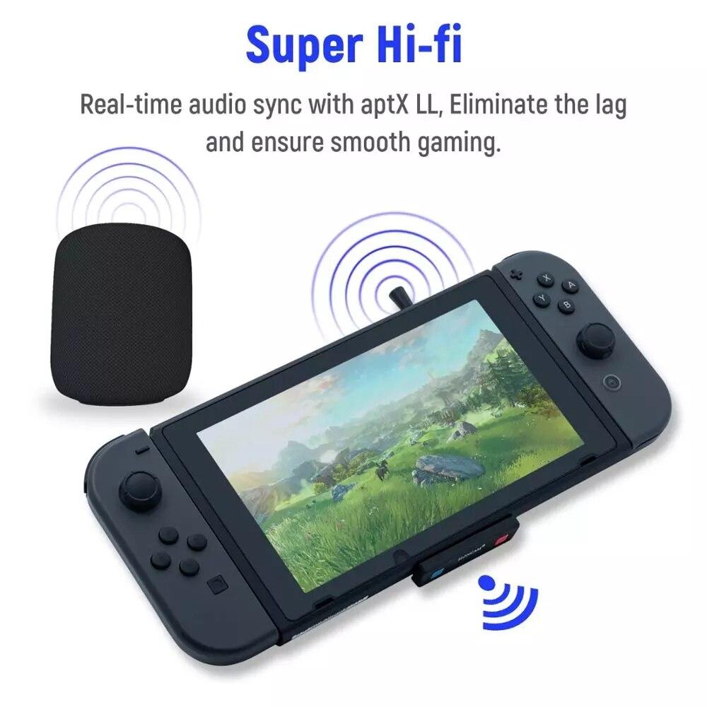 Pop Honcam ультра-тонкий Беспроводной аудио передатчик аудио адаптер конвертер для nintendo Switch/Lite/для PS4/для PS5/пк (HC-A3518)