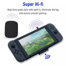 Pop Honcam-transmisor de Audio inalámbrico ultradelgado, Adaptador convertidor para Nintendo Switch/Lite/PS4/PS5/PC (HC-A3518)
