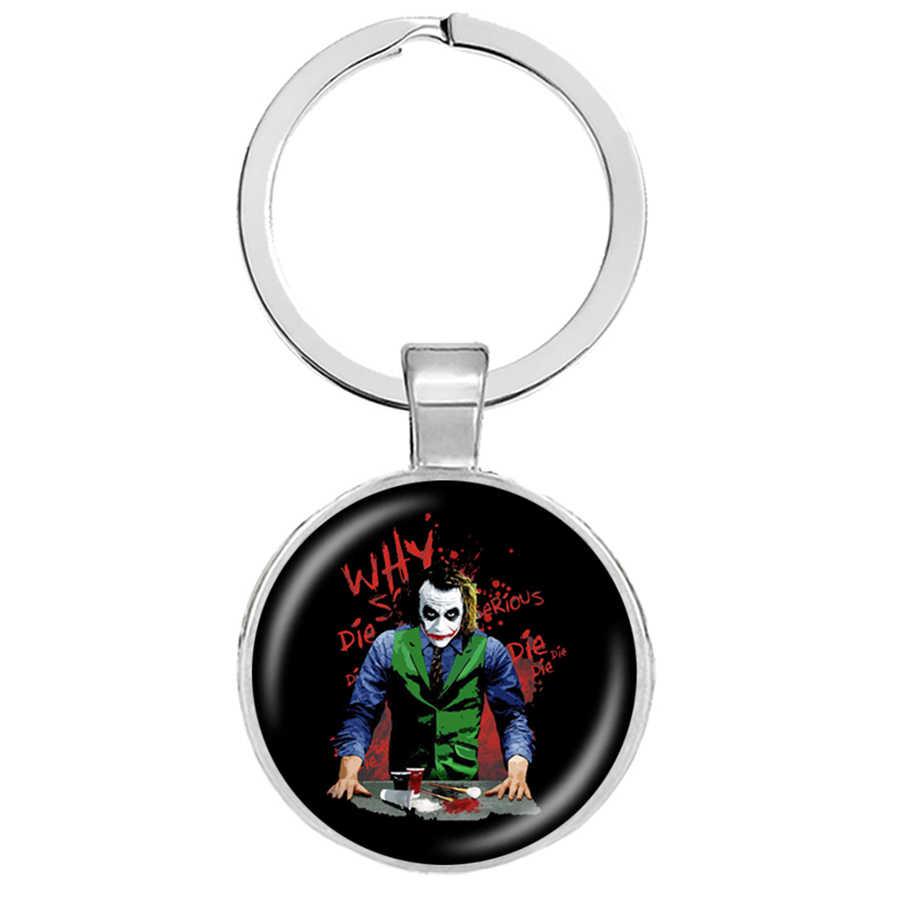 Los llaveros del Joker de CC Horror de Stephen King todos flotamos aquí abajo Pennywise llaveros del Escuadrón suicida Joker Harley Quinn joyería
