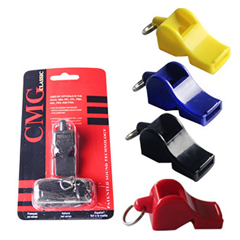 Outdoor Whistle Plastic Soccer Basketball Hockey Baseball Sports Classic Referee Whistle Survival Tool
