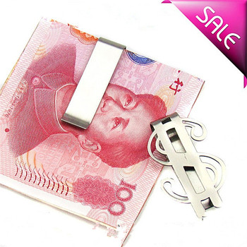 Fashion Money Clip Simple Dollar Design Stainless Steel Metal Slim Money Clip Credit Card Money Holder Bill Clip Clamp Dropship image