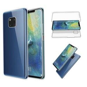 360 двойной силиконовый чехол для телефона Huawei Y5 Y6 Y7 Y9 2019 P30 P20 Pro P10 P9 P8 Lite 2017 P Smart Plus 2019 Honor 10i 20i чехлы
