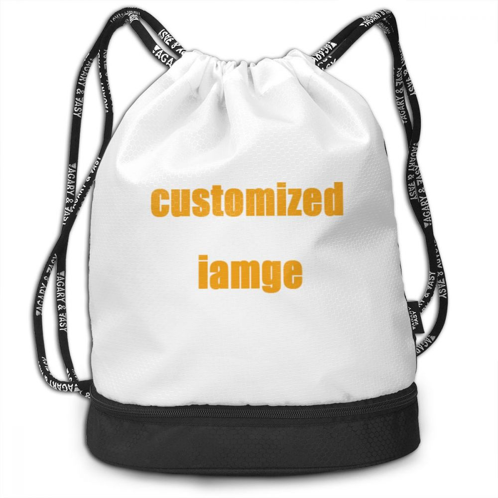 NOISYDESIGNS Customized Drawstring Backpack Multi-FunctionBundle Backpack Women Men Storage Bags Worek Plecak Sznurek
