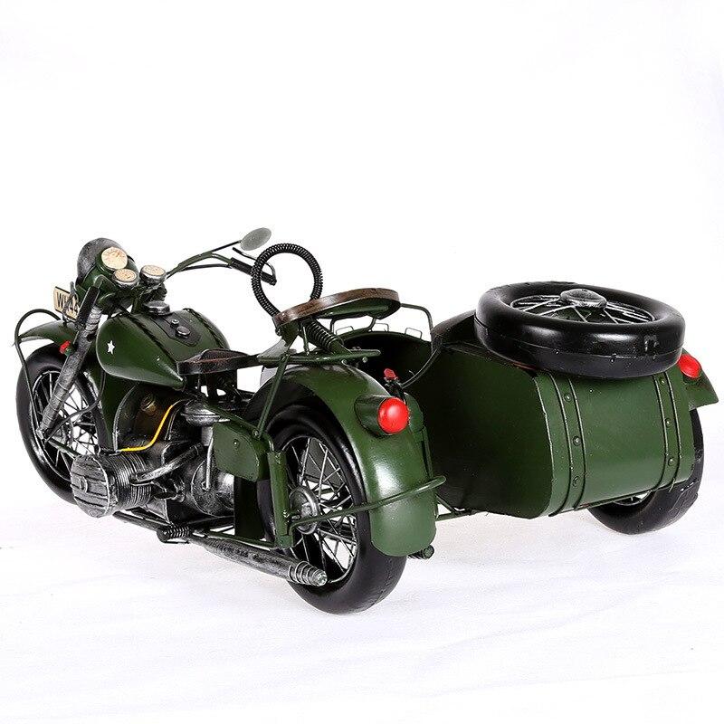 Europese Vintage Home Decor Motorfiets Model Creatieve Metaal Ambachten Verjaardag Geschenken Collectie Souveni Woondecoratie Accessoires - 2