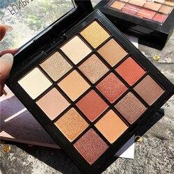 Paleta de sombras de ojos pigmentadas de 16 colores, brillo mate, paleta de sombras de ojos, maquillaje metálico, cosmético