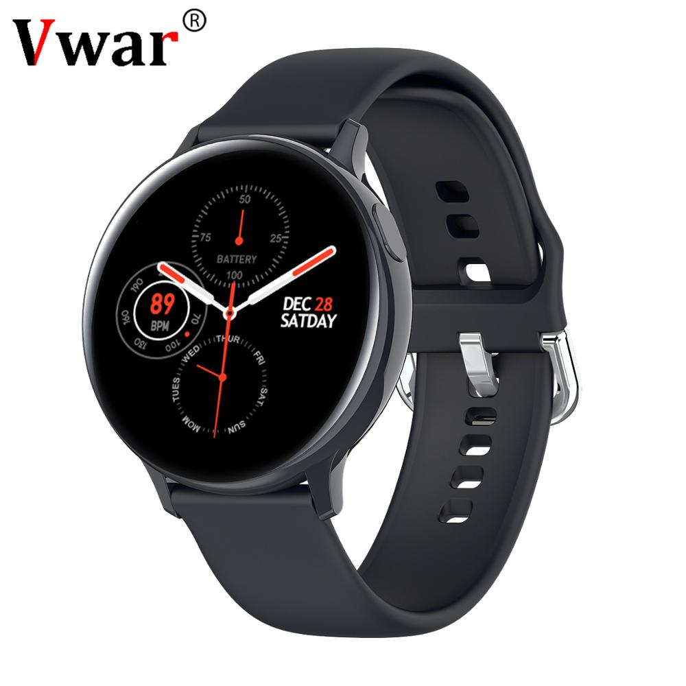 Vwar S20 Smart Watch Men Women IP68 Waterproof Full Touch <font><b>Screen</b></font> <font><b>Smartwatch</b></font> ECG Heart Rate Blood Pressure for Android IOS Phone image
