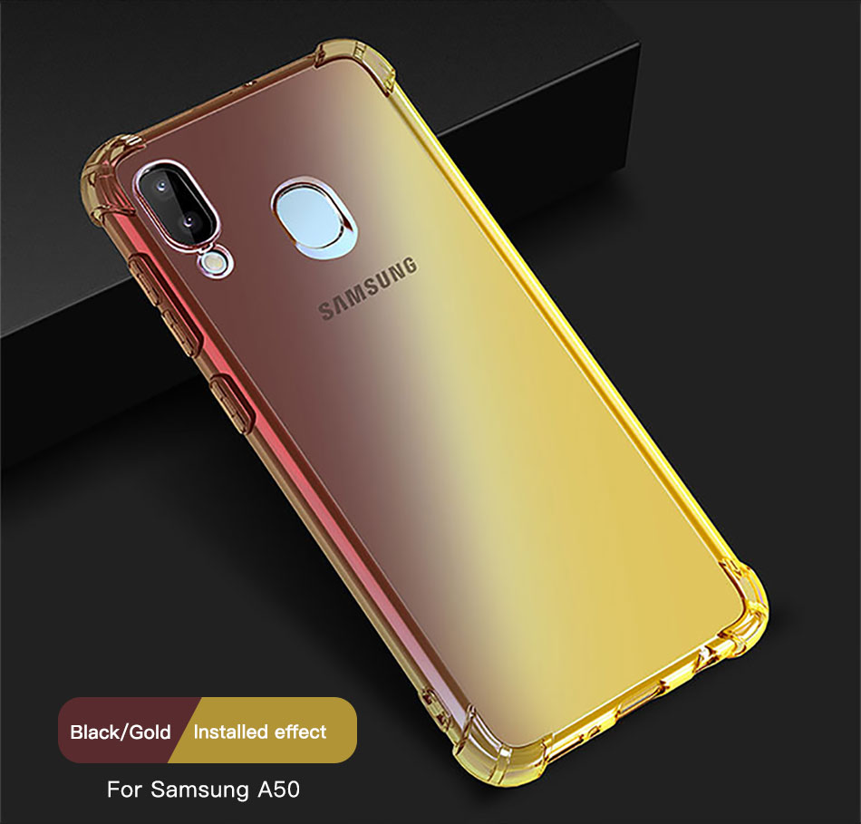 !ACCEZZ Colorful For Samsung A40 A50 Soft Phone Case Protection Back Cover For Galaxy A50 A40 TPU Thin Phone Shell Fitted Case (10)