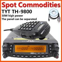 Versão mais recente tyt TH-9800 quad band 29/50/144/430 50w estação de rádio móvel carro de alta potência