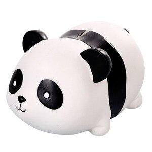 1 шт. ПВХ банка для денег в форме панды, Очаровательная банка для экономии, декоративная банка, 700 шт., банка для монет для домашних детей (черн...