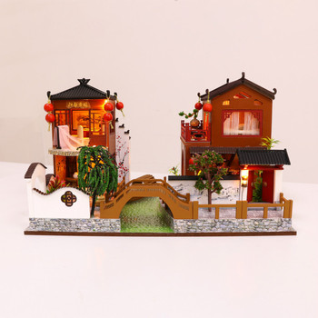 DIY Wooden Hand-assembled Villas House Poetry and Creative Birthday Gifts With dust cover