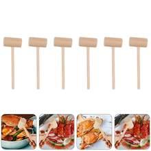 15/30 pçs criativo leve prático multiuso mini bolo maletes martelos de madeira caranguejo martelos para casa festa restaurante