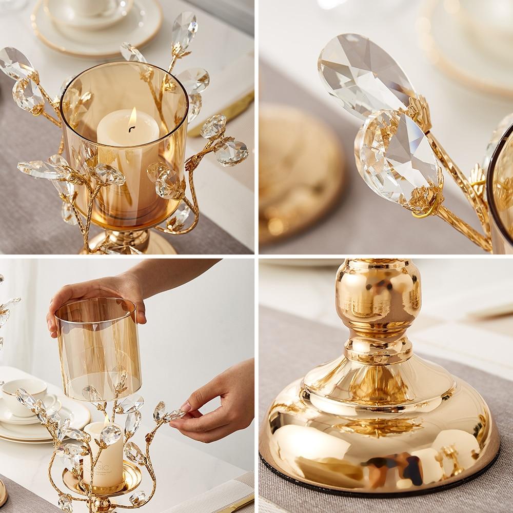 Gold Metal Pillar Candle  5