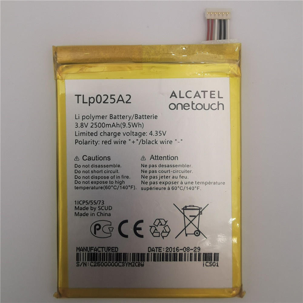 2500mAh Battery For ALCATEL One <font><b>Touch</b></font> Pop 2/ 8008D Scribe HD 6040D 6043D 7047 TCL Y710 Y900 TLp025A1 5054 6043 <font><b>7043</b></font> 7044 7048 image