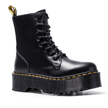 Women Boots Leather Boots Black Martens Boots For Women Ankle Boots Dr Motorcycl
