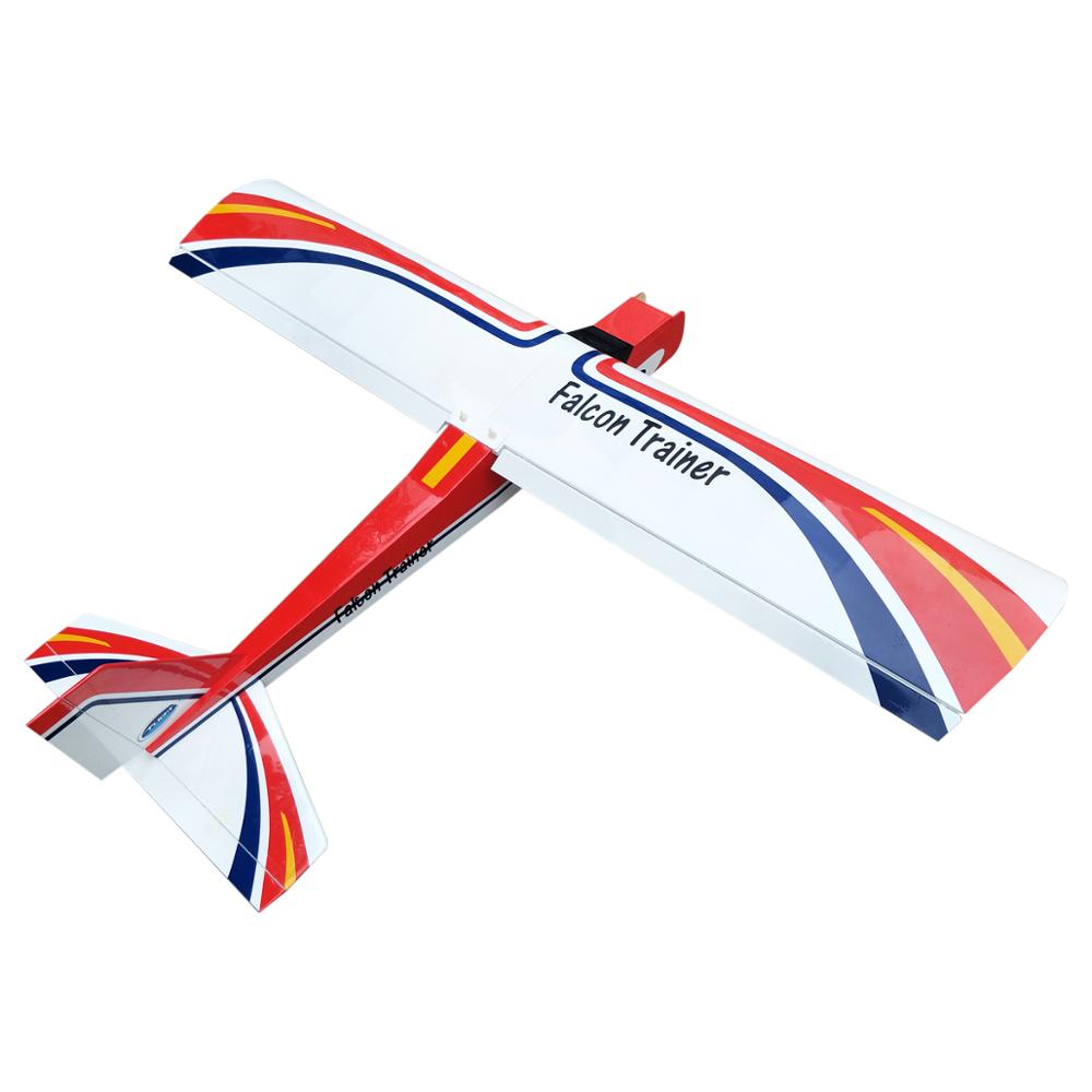 Falcon Trainer RC Airplane 73.2inch 20cc Fixed Wing Wooden Gasoline Aircraft Model image