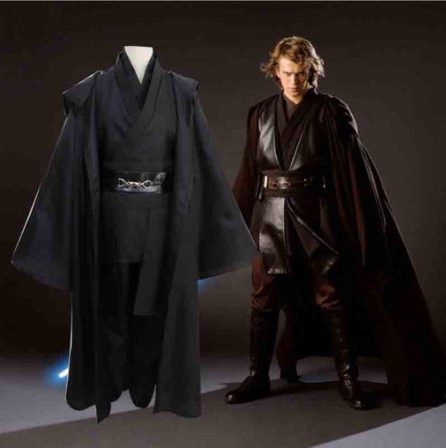 Star Wars Cosplay Costume Anakin Skywalker Replica Jedi Robe Fantasia Male Halloween Cosplay Jedi Costume For Men Plus Size 3XL