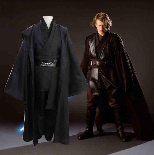 Star Wars Cosplay kostüm Anakin Skywalker çoğaltma Jedi Robe Fantasia erkek cadılar bayramı Cosplay Jedi kostüm erkekler için artı boyutu 3XL